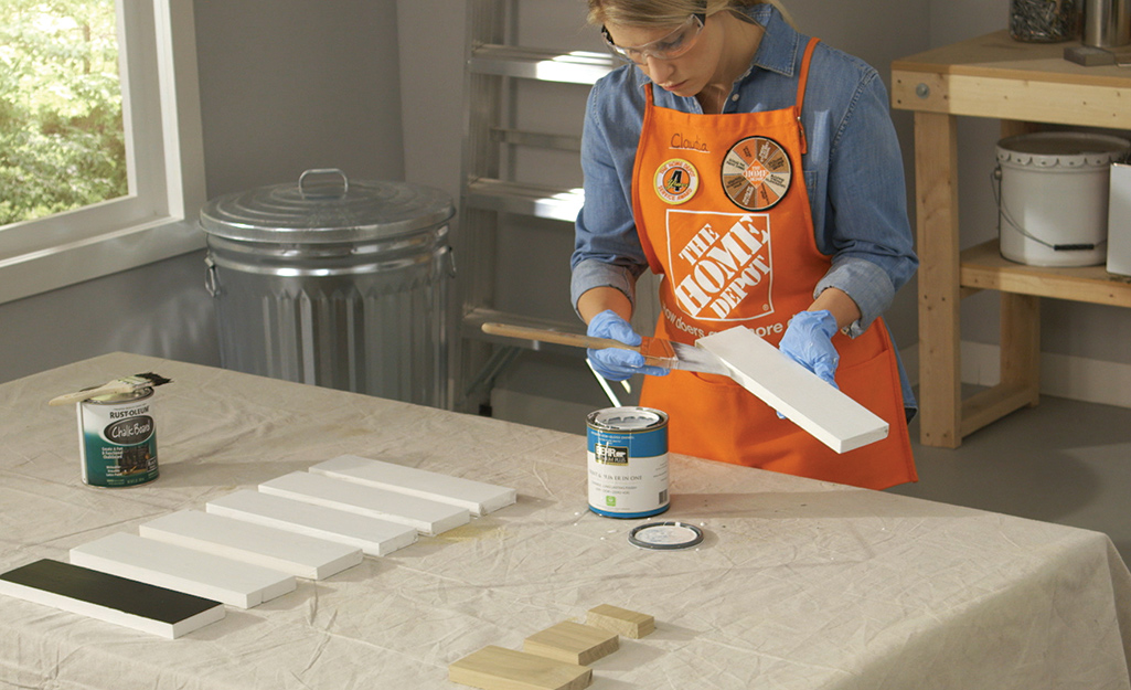 Stain or paint boards