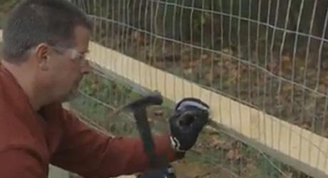 Staple mesh post bottom rail - Building Wire Fence