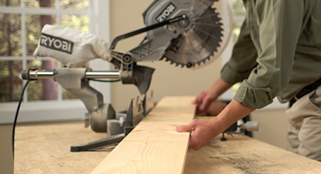 Use a circular saw to cut the lumber into the required dimensions.
