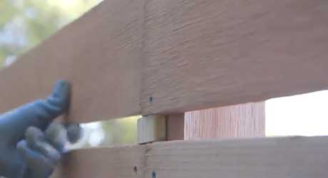 Weave spacers - Making Basket Weave Fence