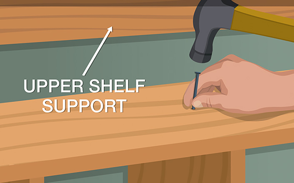 How to build closet shelves Industrial This Picture Shows You How To Place And Secure The Long Shelves Of Your Diy Closet The Home Depot Diy Closet Organizer The Home Depot