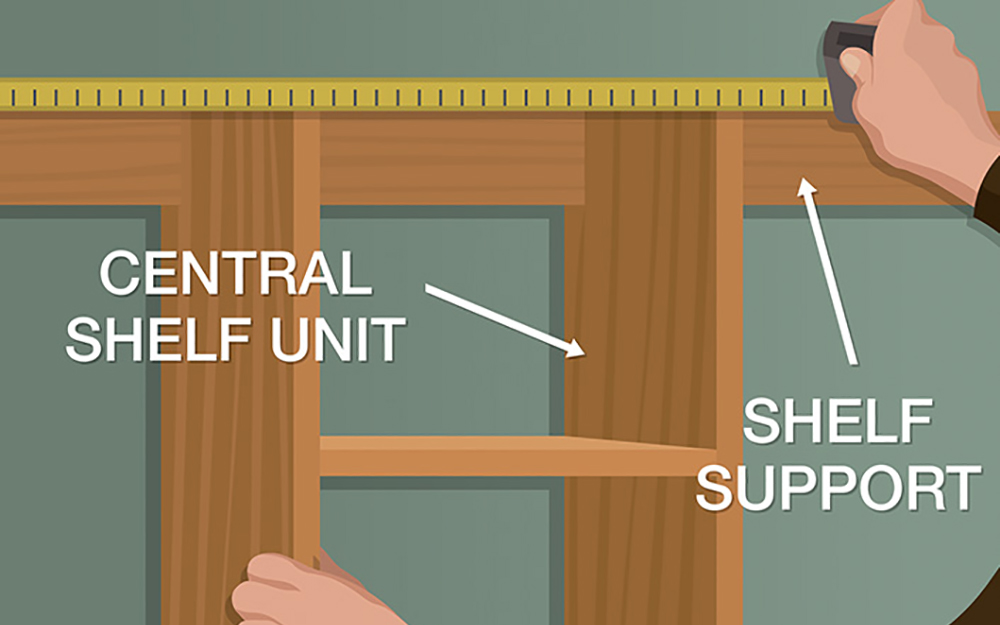This picture shows you how to position your DIY closet organizer into the closet. - Build Closet Organizer