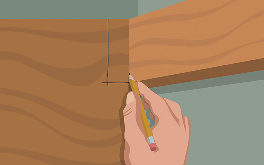 This picture shows you how to fit the lower shelf's back support of your DIY closet organizer. - Build Closet Organizer