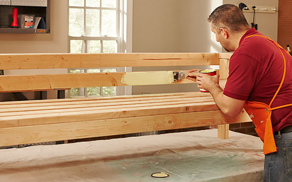 How to Build an Outdoor Sofa - The Home Depot