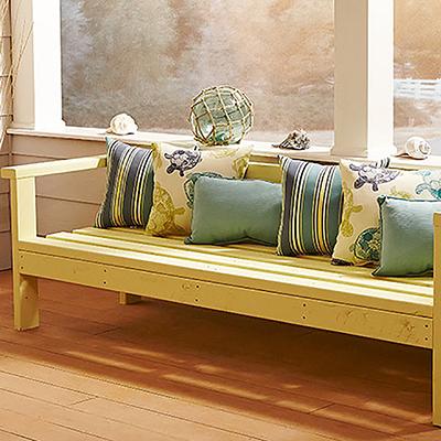 Build an outdoor sofa bench