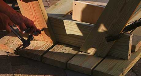 Attach legs - How Build Picnic Table