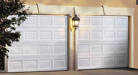 Standard white garage door