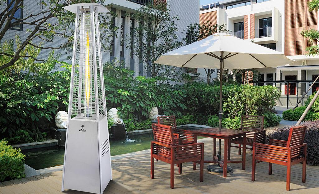 Patio heater outdoors