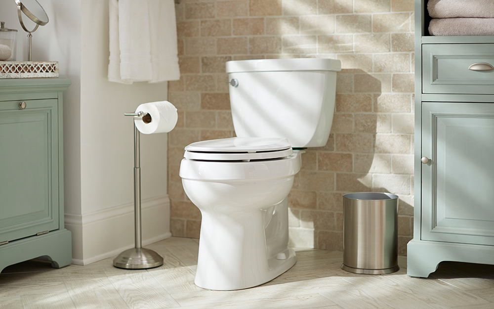 A two-piece toilet