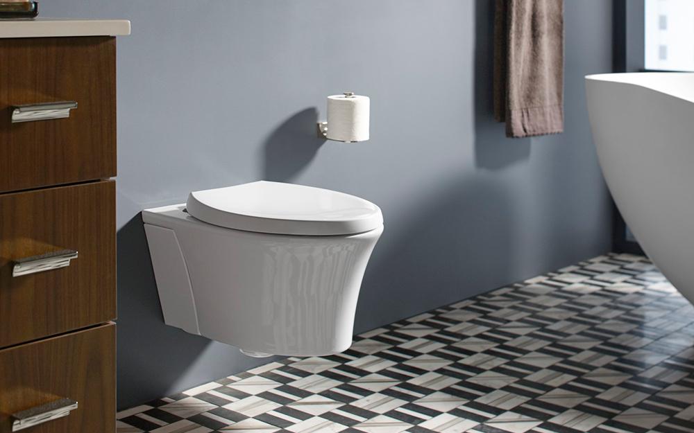 Một nhà vệ sinh treo tường.