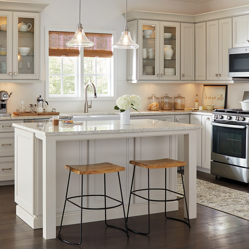 a kitchen featuring newly installed countertops