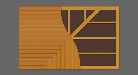 90° herringbone layout - Best Decking Pattern and Design