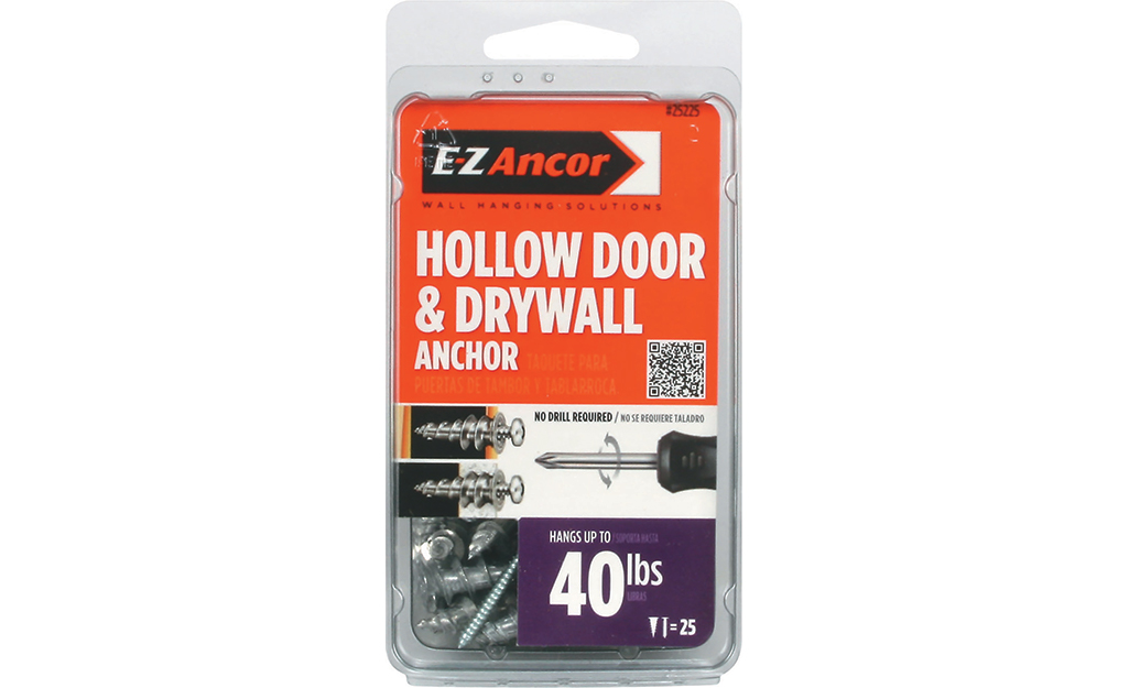 A package of hollow door and drywall anchors.