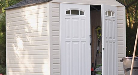 resin or plastic shed