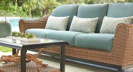 Large patio seating
