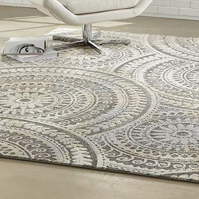 Area rug in a room