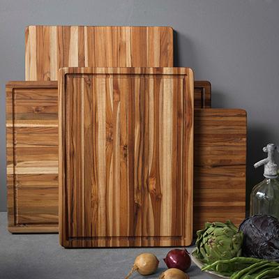 Three wooden cutting boards.