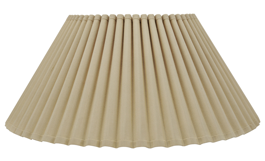 A pleated lampshade.
