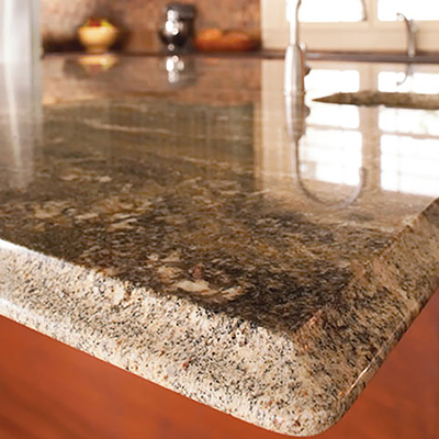 A clean granite countertop