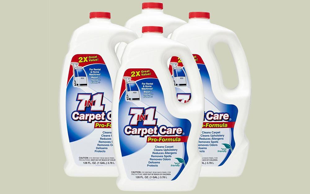 Bottles of carpet cleaning solution