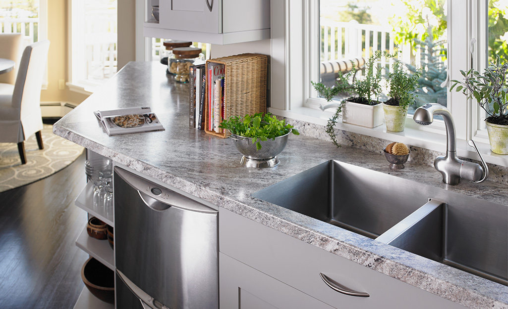 A kitchen featuring clean granite countertops.