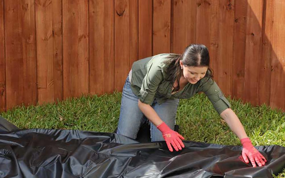 Install the pond liner - Build Backyard Pond