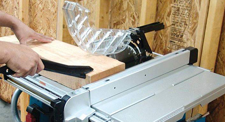 Use push stick - Cutting Ripping Table Saw