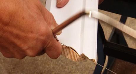 Cut along S-curve - Cutting  Cope Crown Moulding