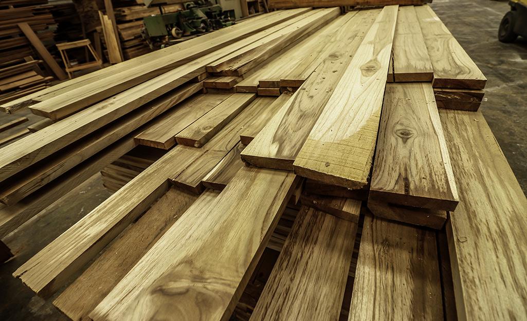 A closeup of a lumber.