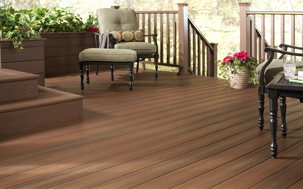 A Backyard Deck Made Of Composite Boards