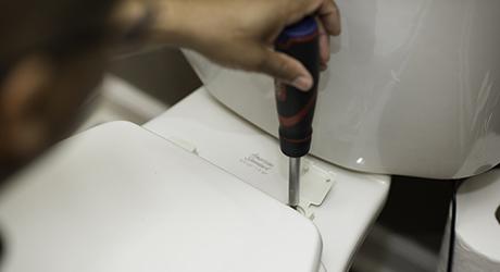 Fix a loose toilet seat - Minor Adjustments Your Toilet