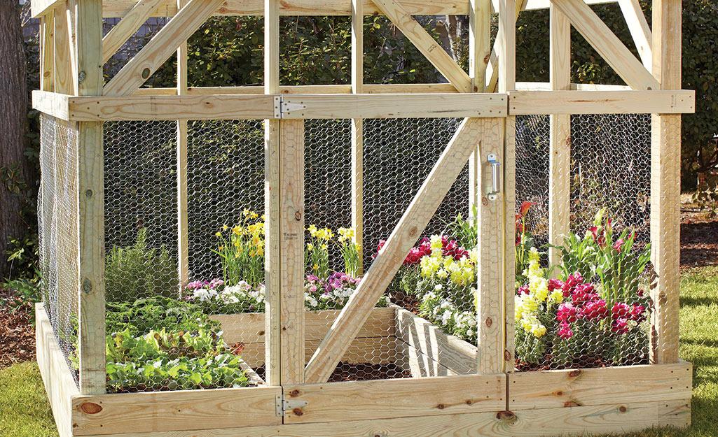 Wooden garden enclosure