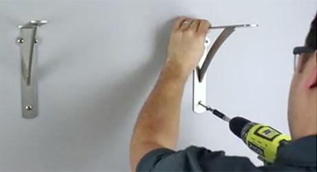 installing a shelf bracket
