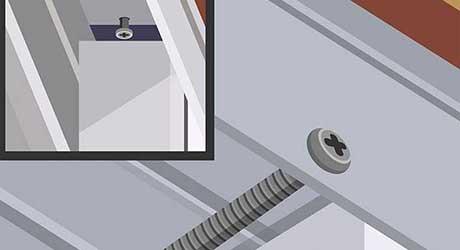 Drive in a screw - Install Window Locks