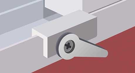 Lock with a stop - Install Window Locks