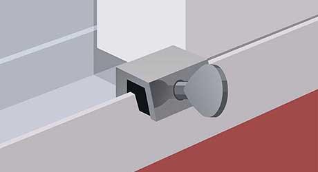 Key track stop - Install Window Locks