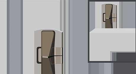 Hinged wedge lock - Install Window Locks