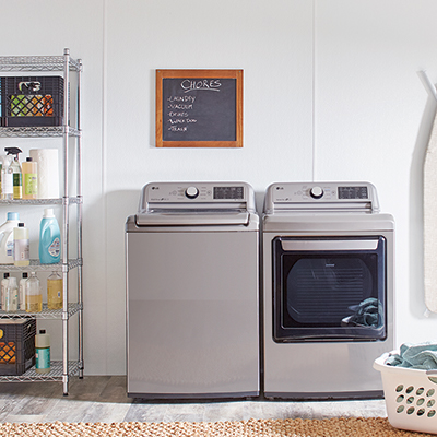 FRP paneling installed in a laundry room.