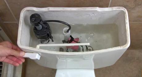 Shut water flush toilet - Install Ballcock Fill Valve