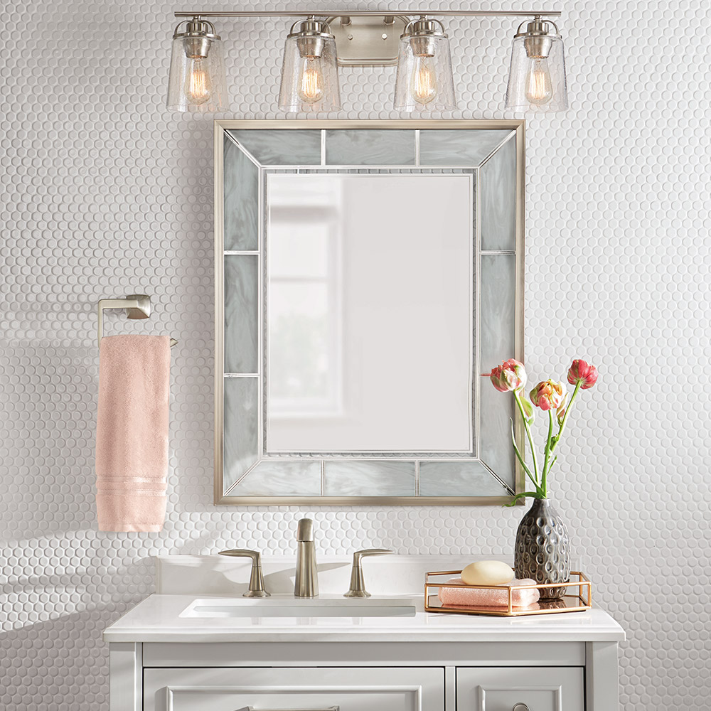 How To Install A Bathroom Mirror The Home Depot