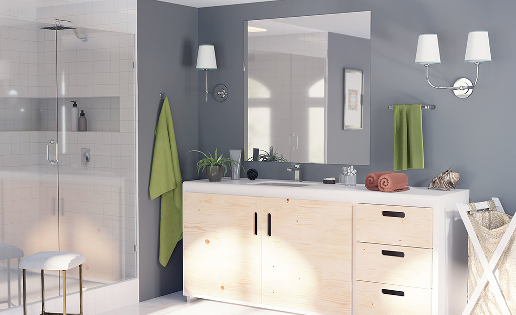 Large frameless mirrors - Installing a Bathroom Mirror