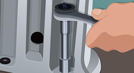 Bolt pedestal floor - Install Pedestal Sink