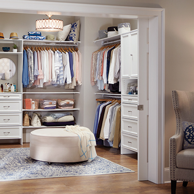closet with a pocket door