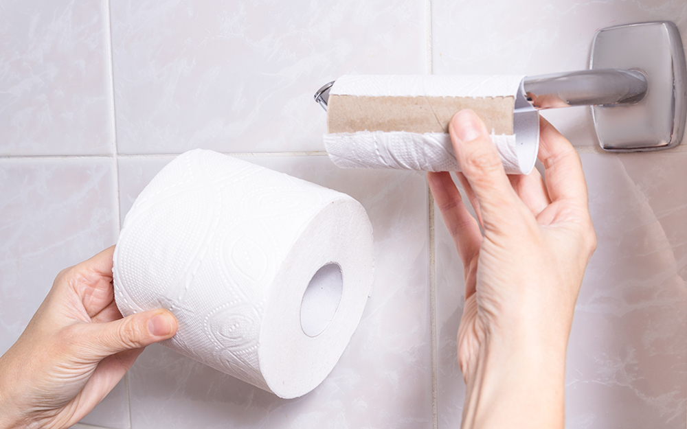 How To Install A Toilet Paper Holder The Home Depot