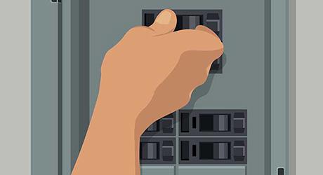 TURN OFF THE MAIN CIRCUIT BREAKER - Install AFCI Breaker