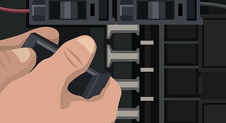 CONNECT THE AFCI BREAKER - Install AFCI Breaker