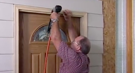 Anchor the moulding - How Install Entry Door