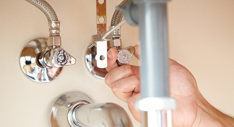Turn off the water - Center-Set Faucet