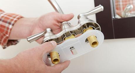 Place faucet gasket - Center-Set Faucet