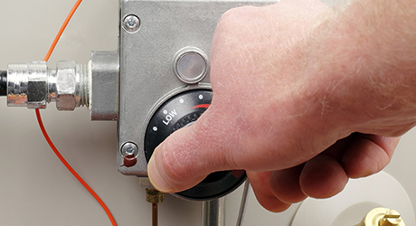 Turn control knob on - Install Gas Water Heater